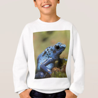 Grenouille bleue de dard de poison sweatshirt