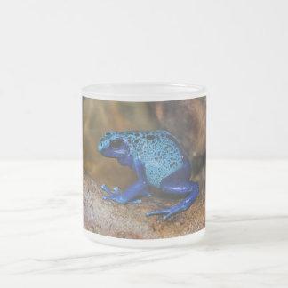 Grenouille bleue Dendrobates Azureus de dard de po Mug En Verre Givré