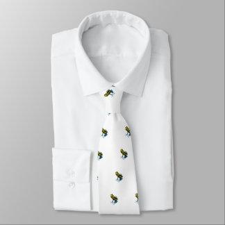 Grenouille colorée par espièglerie adorable cravate