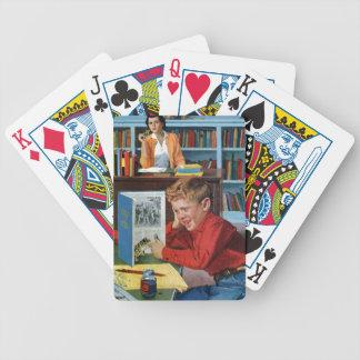 Grenouille dans la bibliothèque jeu de cartes