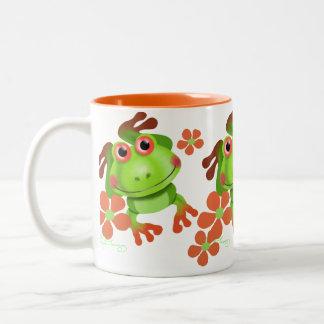 Grenouille d'arbre drôle mignonne tasse