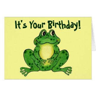 Grenouille de houblon - carte d'anniversaire des e