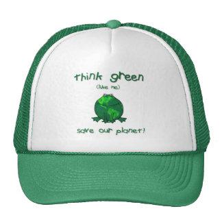 Grenouille de l'environnement de jour de la terre casquette de camionneur