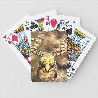 Grenouille de natation jeu de cartes