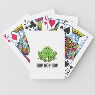 Grenouille d'houblon d'houblon d'houblon jeu de cartes