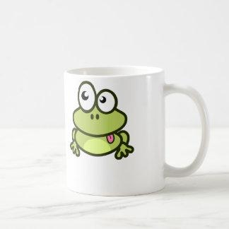 Grenouille drôle de bande dessinée - tasse de café