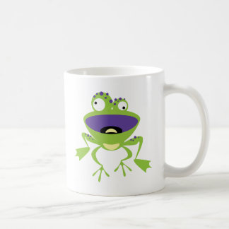 Grenouille drôle mug blanc