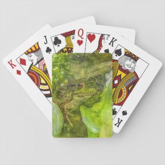Grenouille espiègle d'amusement jeu de cartes