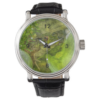 Grenouille espiègle d'amusement montres bracelet