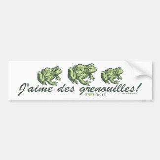 Grenouille française - grenouilles Bumpersticker d Adhésifs Pour Voiture