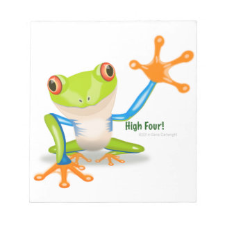 "Grenouille ""hauts quatre "" de Freddie Blocs Notes"