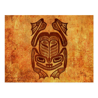 Grenouille indigène rugueuse d'art de Haida Cartes Postales