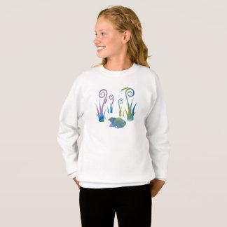 Grenouille, insectes, de plantes étranges sweatshirt