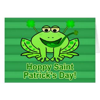 Grenouille irlandaise mignonne du jour de Patrick Carte De Vœux