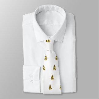 Grenouille jaune et noire par espièglerie adorable cravate