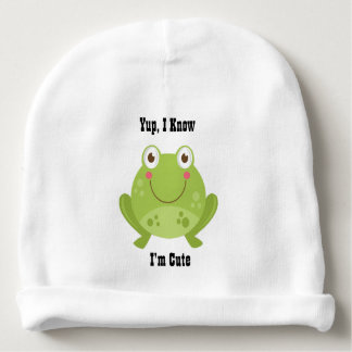 Grenouille mignonne bonnet de bébé