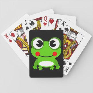 Grenouille mignonne de bande dessinée cartes à jouer