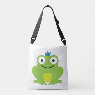 Grenouille mignonne et colorée avec la conception sac