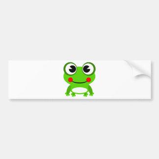 grenouille mignonne idiote autocollant pour voiture