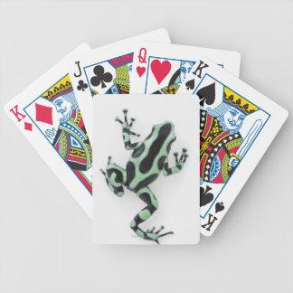 Grenouille noire et verte 2 de dard de poison jeu de poker