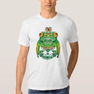Grenouille observée par 3 t-shirts