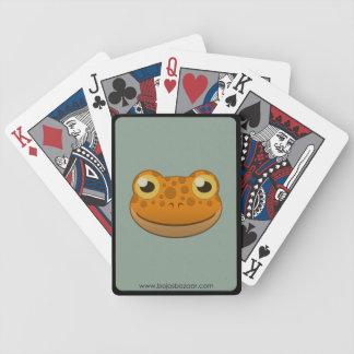 Grenouille orange de papier jeu de cartes