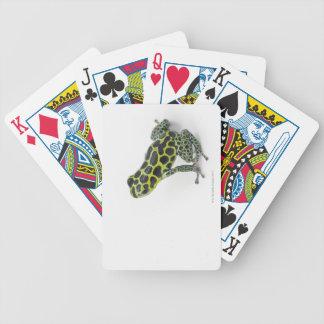 Grenouille verte de dard de poison repérée par noi cartes à jouer