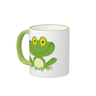 Grenouille verte mignonne mugs