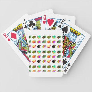 Grenouilles d'arc-en-ciel jeux de cartes