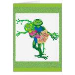 grenouilles de danse carte de vœux