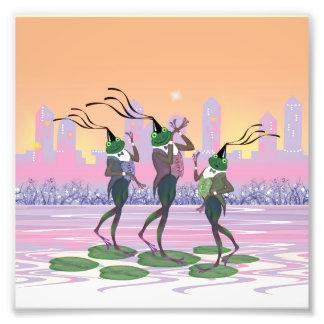 Grenouilles de danse de partie de chant photographies