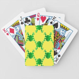 Grenouilles mignonnes de bande dessinée cartes à jouer