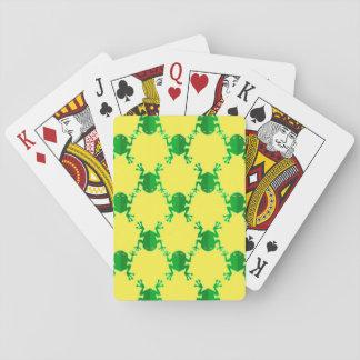 Grenouilles mignonnes de bande dessinée jeux de cartes