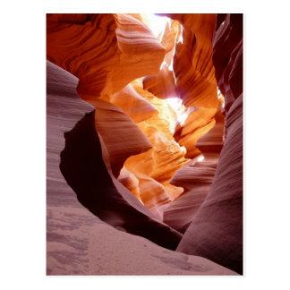 Grès de canyon d'antilope carte postale