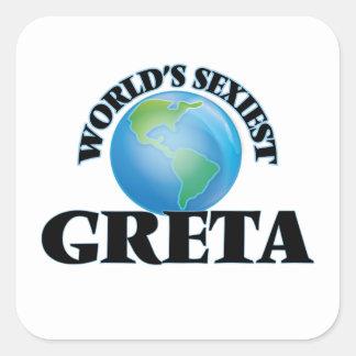 Greta le plus sexy du monde sticker carré