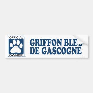 Griffon Bleu De Gascogne Blue Autocollant De Voiture