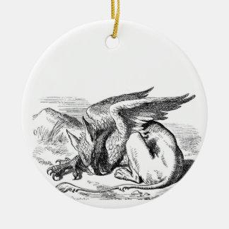 Griffon de sommeil ornement rond en céramique