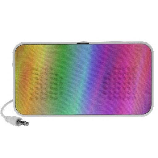 Griffonnage d'arc-en-ciel haut-parleurs iPod