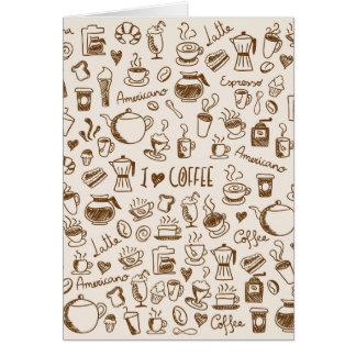 Griffonnage de café cartes