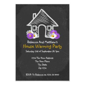 Griffonnage de chauffage de tableau noir de partie carton d'invitation 8,89 cm x 12,70 cm