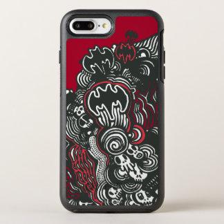 Griffonnage de crânes/encre de Batman Coque Otterbox Symmetry Pour iPhone 7 Plus