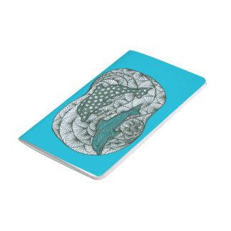 Griffonnage de dauphin carnet de poche