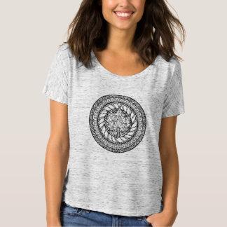 Griffonnage de feuille d'érable d'automne t-shirt