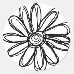 Griffonnage de fleur autocollants