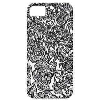 Griffonnage de fleur iPhone 5 case