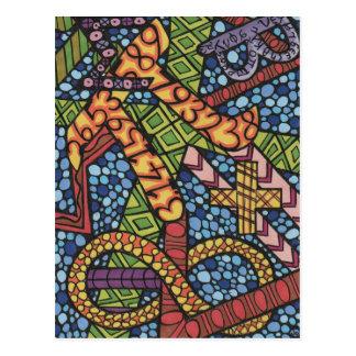 Griffonnage de geek de maths carte postale