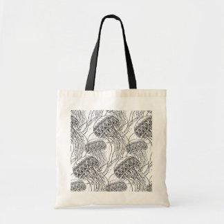 Griffonnage de méduses sac en toile