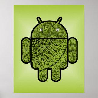 Griffonnage de Pancho pour Android™ Affiches