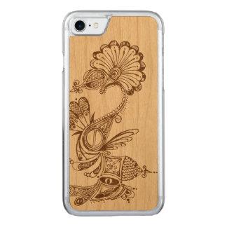 griffonnage en bois 1 de cas de l'iPhone 7 Coque Carved Pour iPhone 7