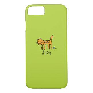 Griffonnage &joy de chat mignon coque iPhone 7